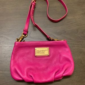 Marc Jacobs pink small cross body bag